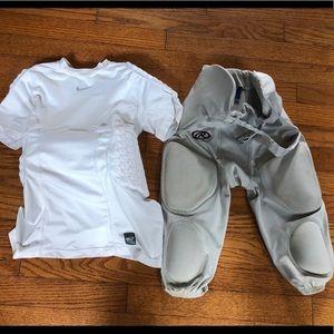 Nike Pro Combat Padded Football Pants Shirt Boys L